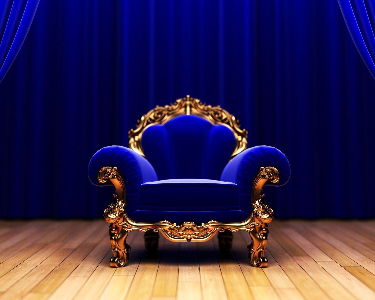 Royal Armchair Wallpaper Hd Wallpapers Source Royal Blue Wallpaper Royal Blue Chair Blue Chair