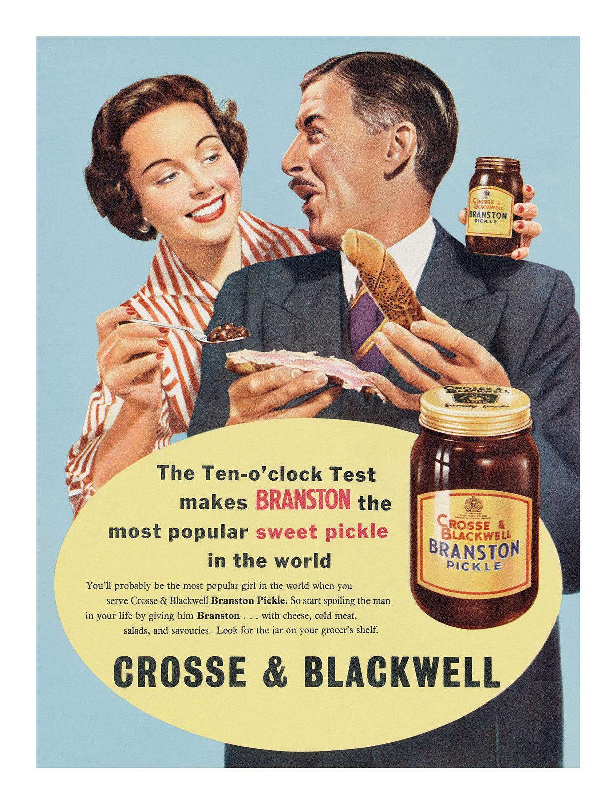 1957 Crosse & Blackwell Branston Pickle ad Branston