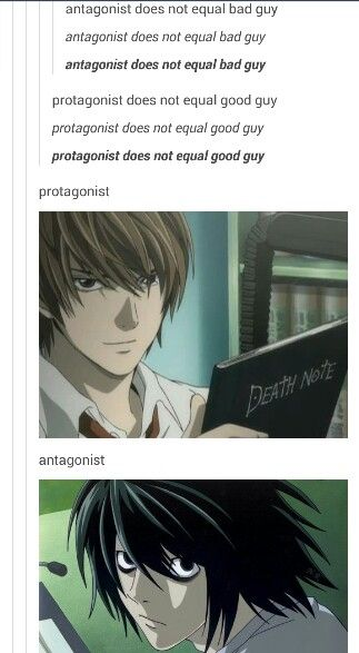 Death Note Protagonist and Antagonist