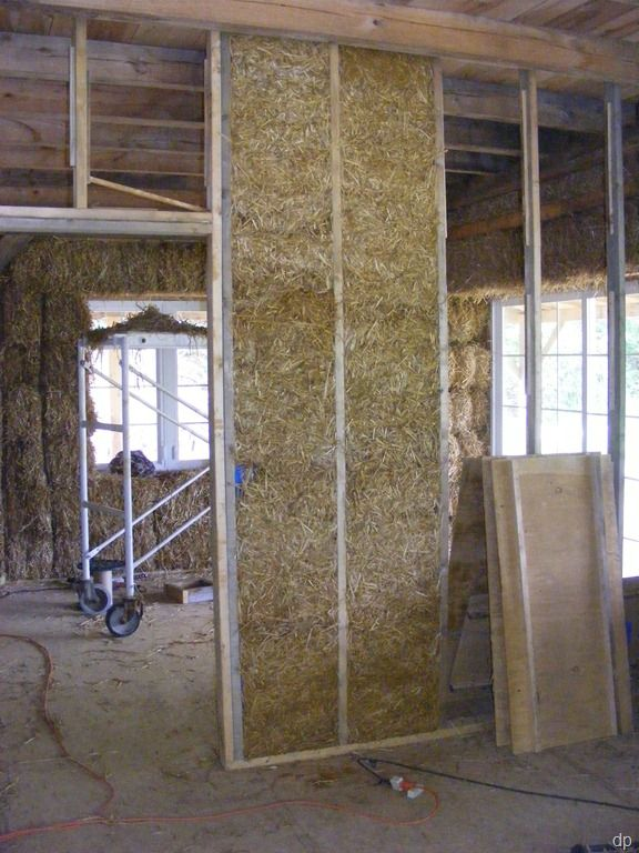 slip straw interior insulation & slip straw interior insulation | Earth Building | Light clay ...