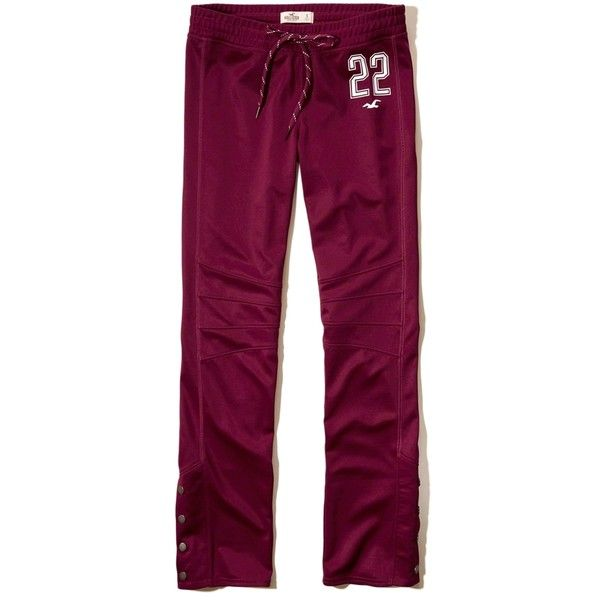 e9361f5e6d66 Hollister Cali Sport Side-Snap Graphic Track Pant ( 40) ❤ liked on Polyvore