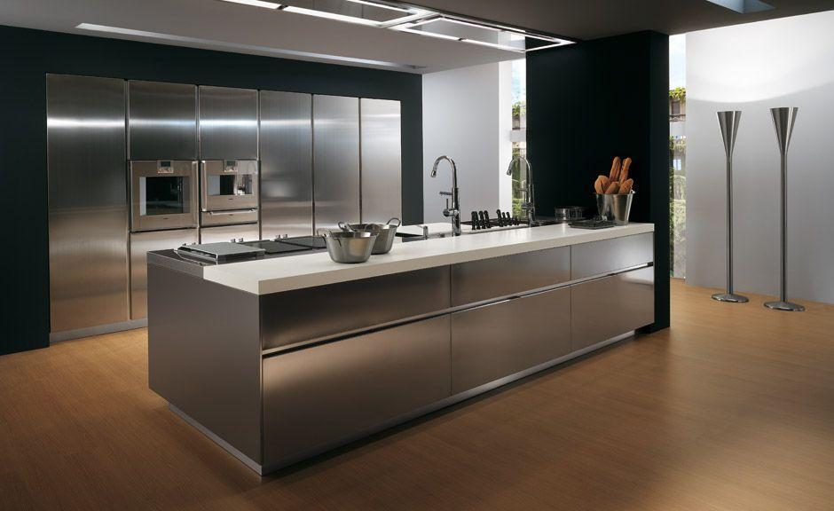 Omgoodnesss Modern Kitchen Design Metal Kitchen Cabinets Stainless Steel Kitchen Island