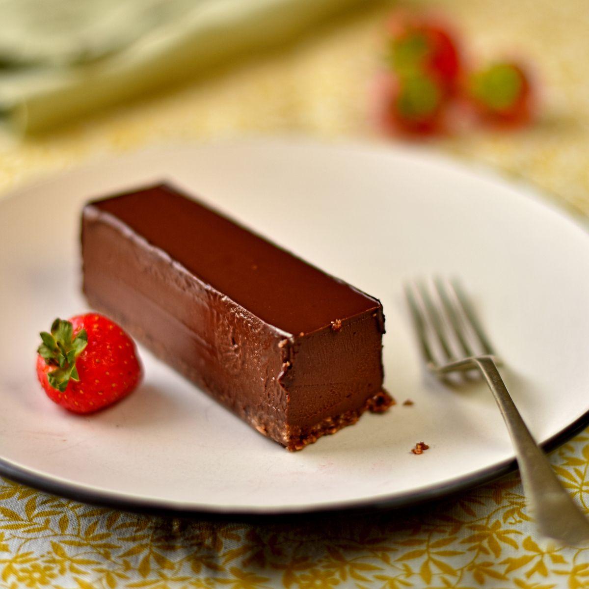 vegan cobnut and chocolate pavé Best vegan desserts