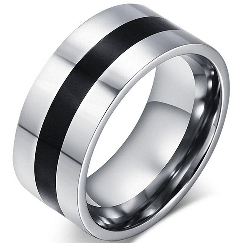 SumBonum Jewelry Mens Womens Stainless Steel Ring, Classic