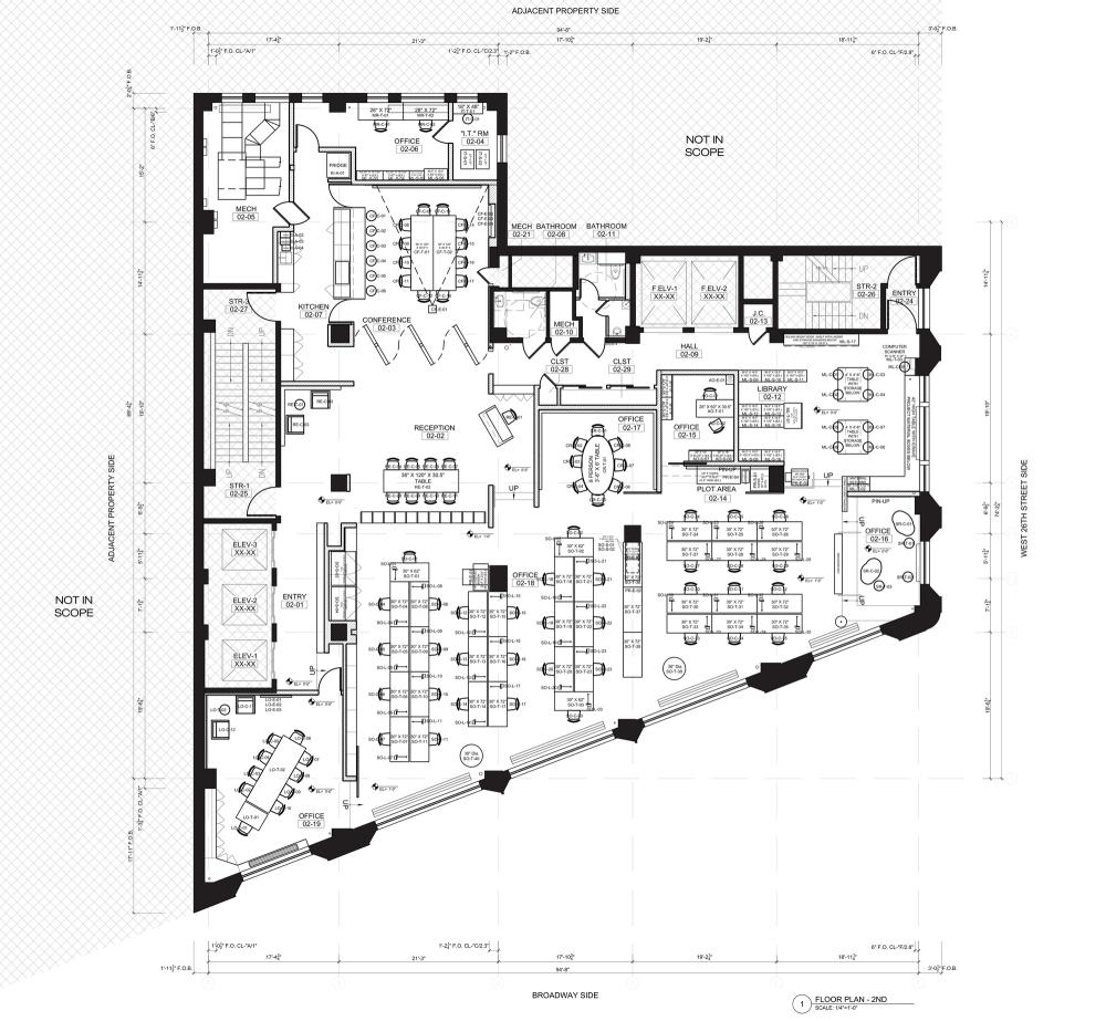 3 Storey Irregular Commercial Building Plan
