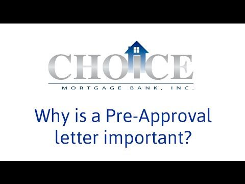 Do you know why getting a pre-approval letter for your mortgage - pre approval letter