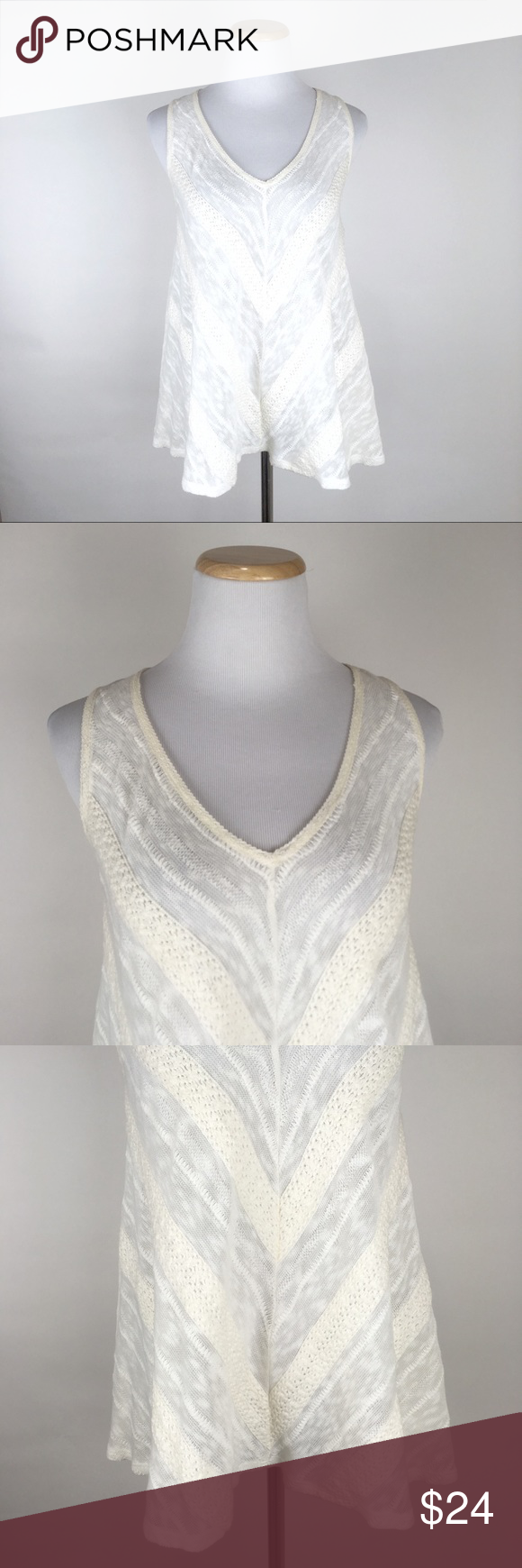 Tank top wedding dresses  ANTHROPOLOGIE Meadow Rue Sheer Knit Tank Top Lace  Knitted tank top