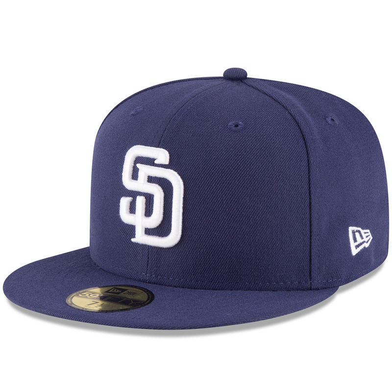the best attitude 1b6d7 ad34d Men s New Era Navy San Diego Padres 2018 Mexico Series Authentic Collection  59FIFTY Fitted Hat