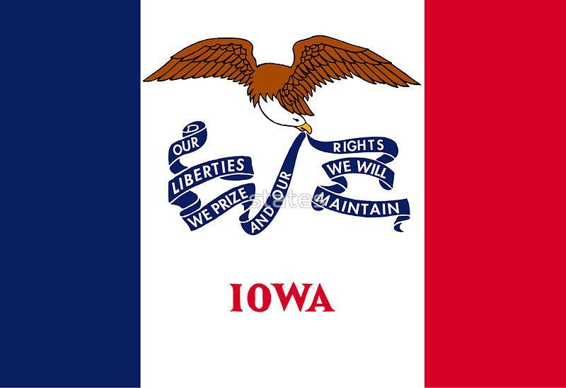 Iowa Flag Sticker By States Iowa State Iowa U S States