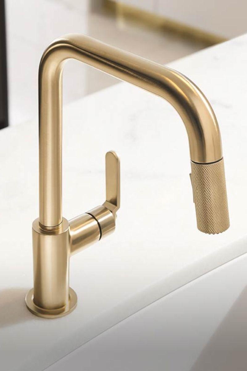 brizo litze kitchen faucet luxe gold