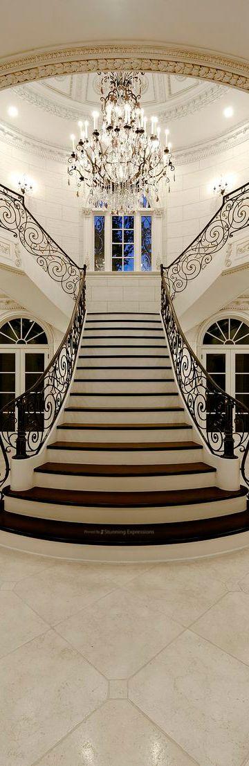 Luxury Stairway | FOYER|STAIRWAY|HALLWAY  Design ...