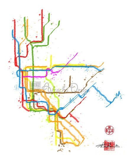 new york city subway train metro map 8 x 10 by afrochadesign 2200