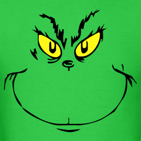 It's just a picture of Challenger Printable Grinch Face
