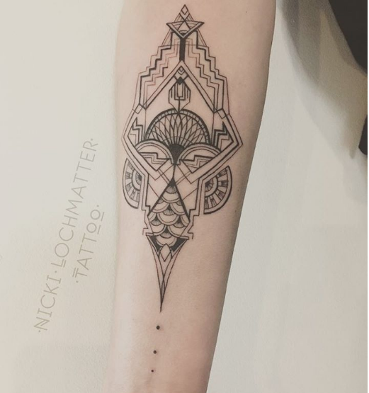 658aa31ab6746 Art Deco Tattoo Geometry Tattoo Linework Tattoo Art Deco Tattoo Your Body  Is A - Skulptura