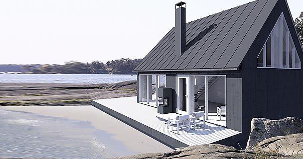 Finland : Sunhouse Saaristolaistalot collection, modern prefab cottage