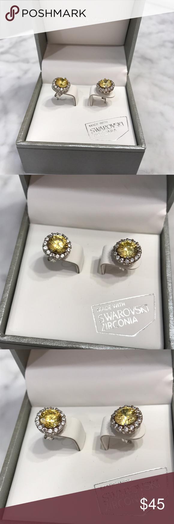 Kiera Couture Sterling Silver Swarovski Earrings