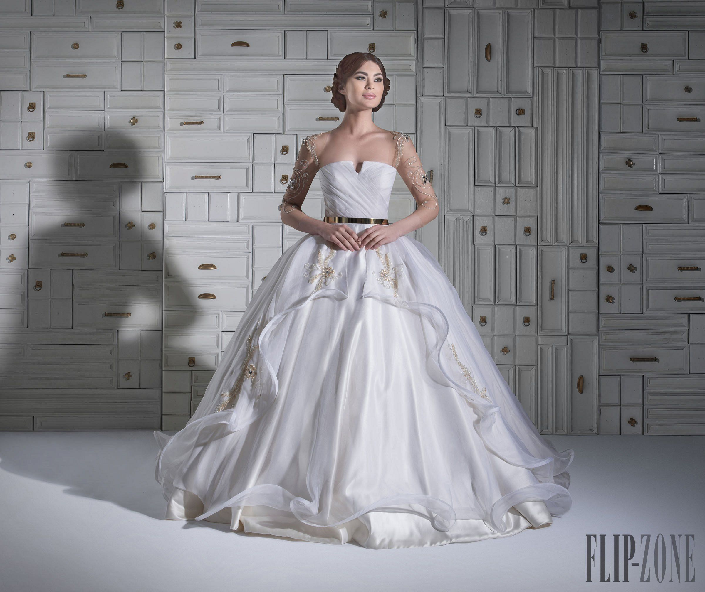 Cinderella inspired wedding dress  Chrystelle Atallah  collection  Bridal  FASHION WEDDING LOOKS
