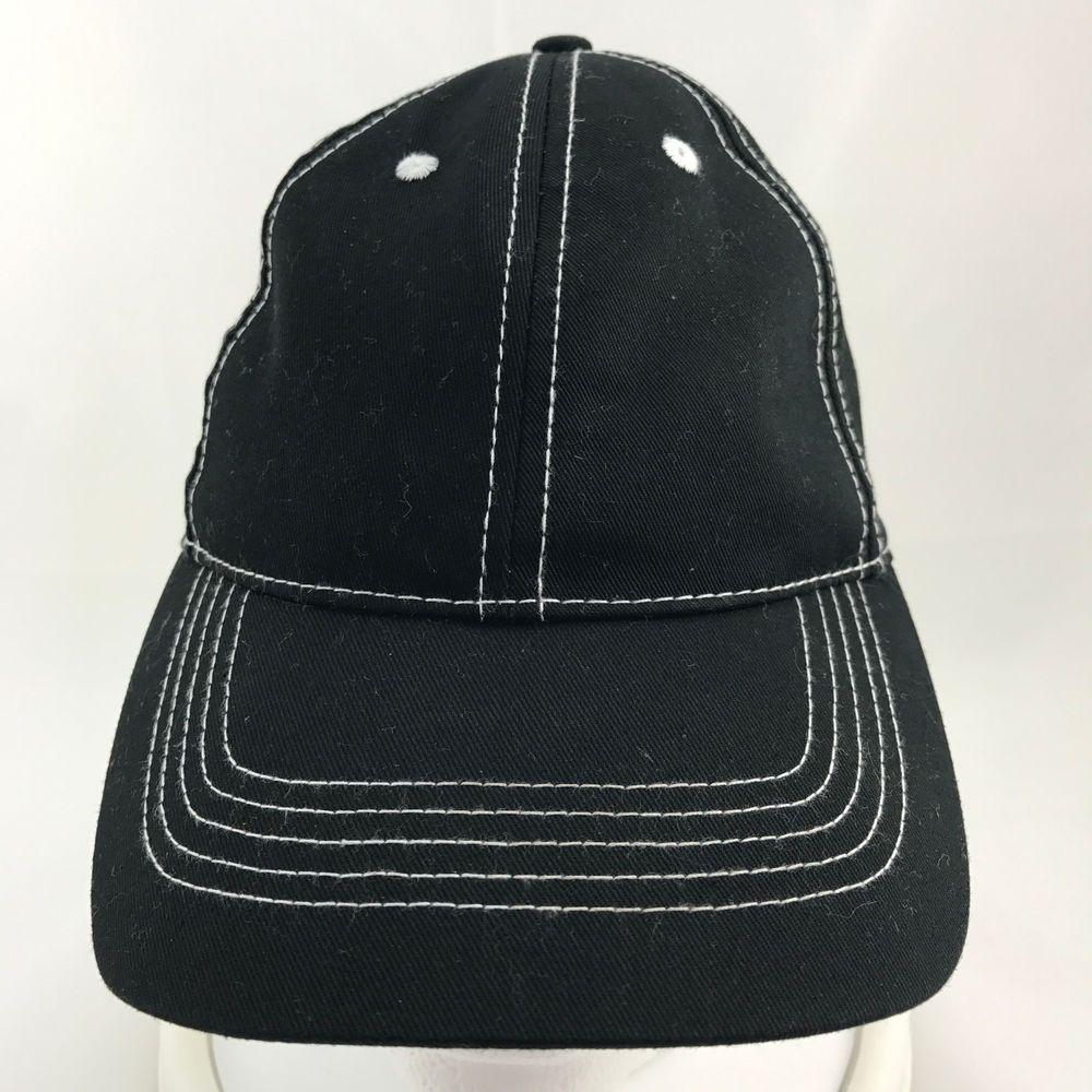 Black w White Stitching Baseball Cap Dad Hat Adjustable 100% Cotton Made  China  Unknown  BaseballCap  ad 3362791a8019