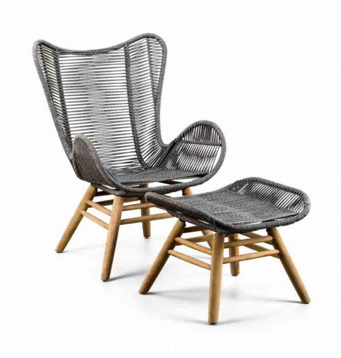Gartenset lounge Suns Kreta loungestuhl mit Hocker kaufen