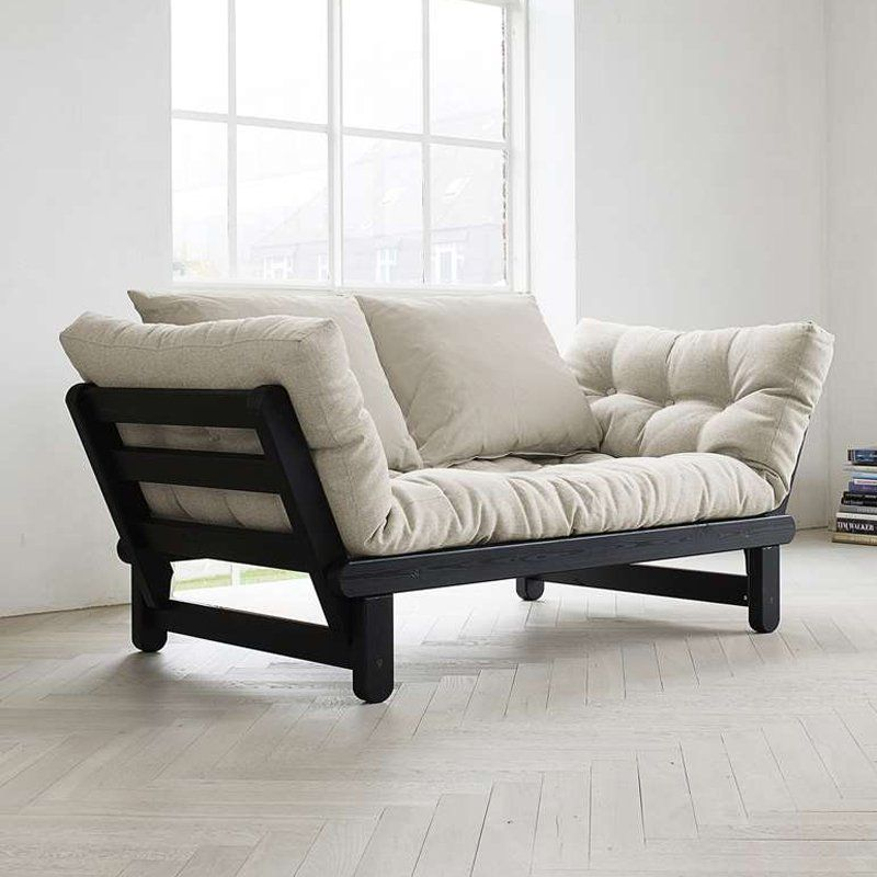 Fresh Futon Beat Black Convertible Sofa