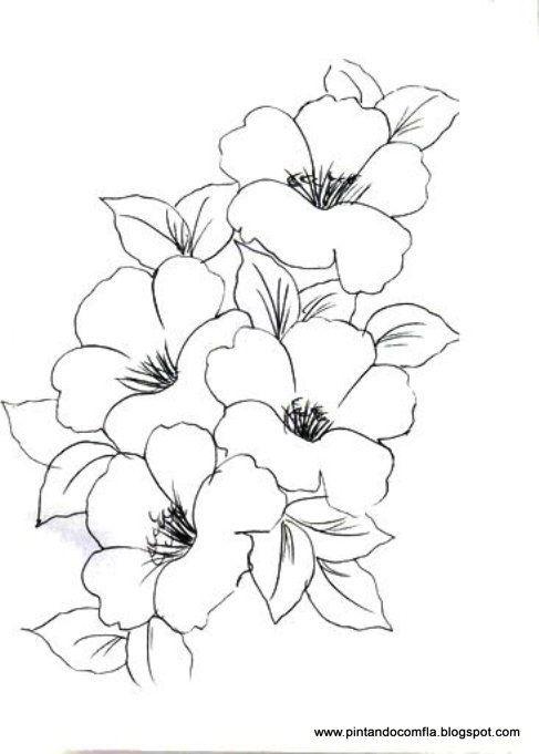 Blume Vorlage | templates for crafts / Malvorlagen | Pinterest ...