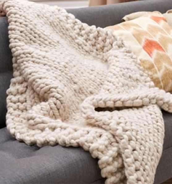 Wonderful Big Stitch Throw Yarn And Pattern Available At