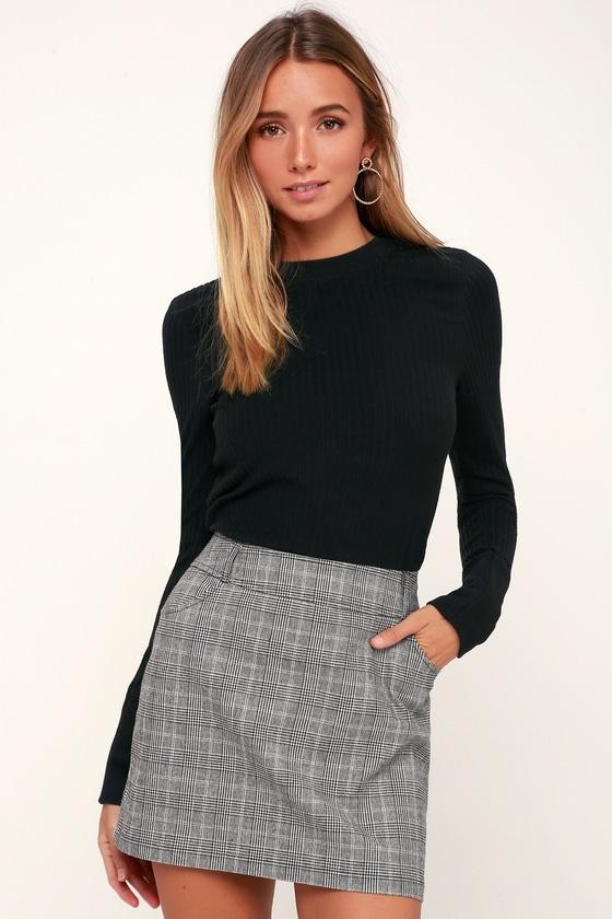 97441b4207 Everything Nice Black and White Glen Plaid Mini Skirt in 2019 | Warm ...