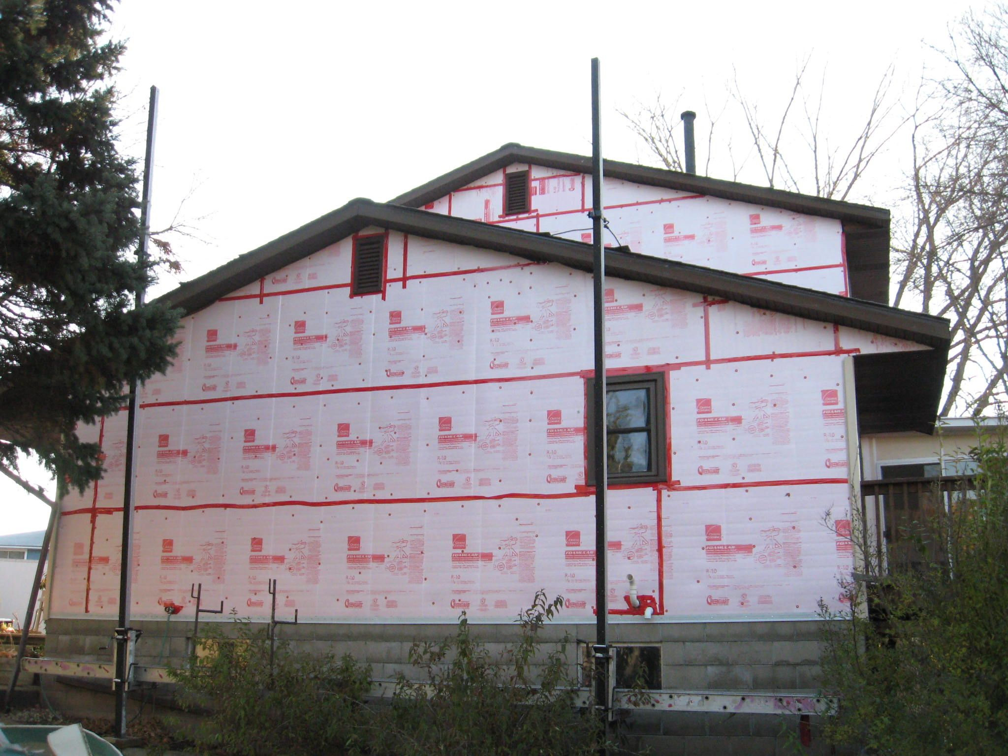 Tape All Seams Whether Using A House Wrap Or Insulation Board Home Ownership House Outdoor Decor