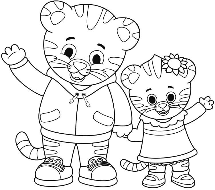 Coloring Page Base Daniel Tiger Daniel Tiger S Neighborhood