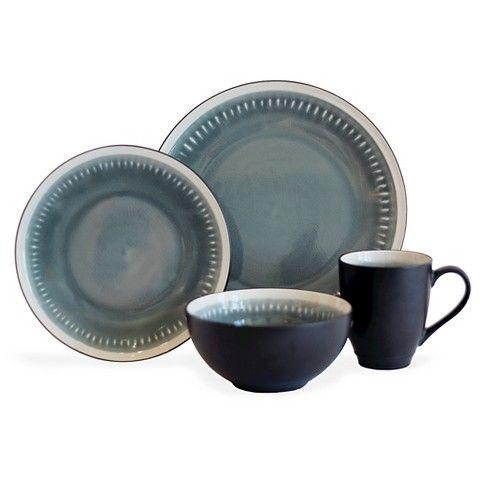 Baum 16pc Reactive Line Grey Dinnerware Set  sc 1 st  Pinterest & Baum 16pc Reactive Line Grey Dinnerware Set | Kitchen Board ...