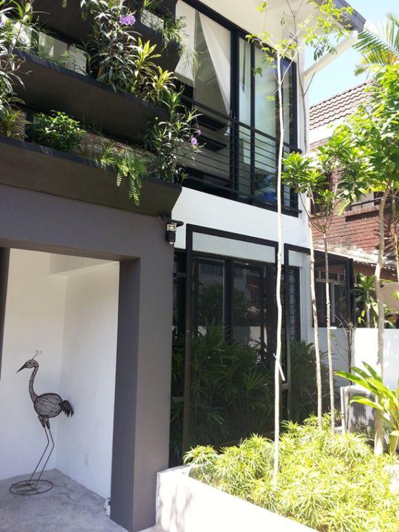 Garden Ideas Malaysia renovated terrace house malaysia - beautiful garden adds greenery