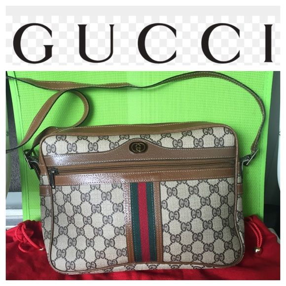 19631d2480 Authentic Gucci handbag Vintage monogram good condition Gucci Bags Shoulder  Bags