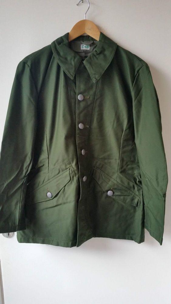 Swedish M59 olive green army field jacket 893344f9a3