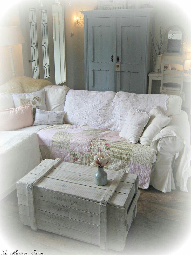 Kist En Kast Dnevna Soba Shabby Chic Decor Living Room
