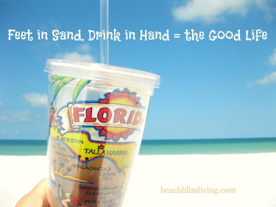 At Lido Beach, Sarasota FL, holding my ice coffee. Via FB: https://www.facebook.com/CoastalBeachBlissLiving/photos/a.128908803835246.19702.128847517174708/914254335300685/?type=1&theater
