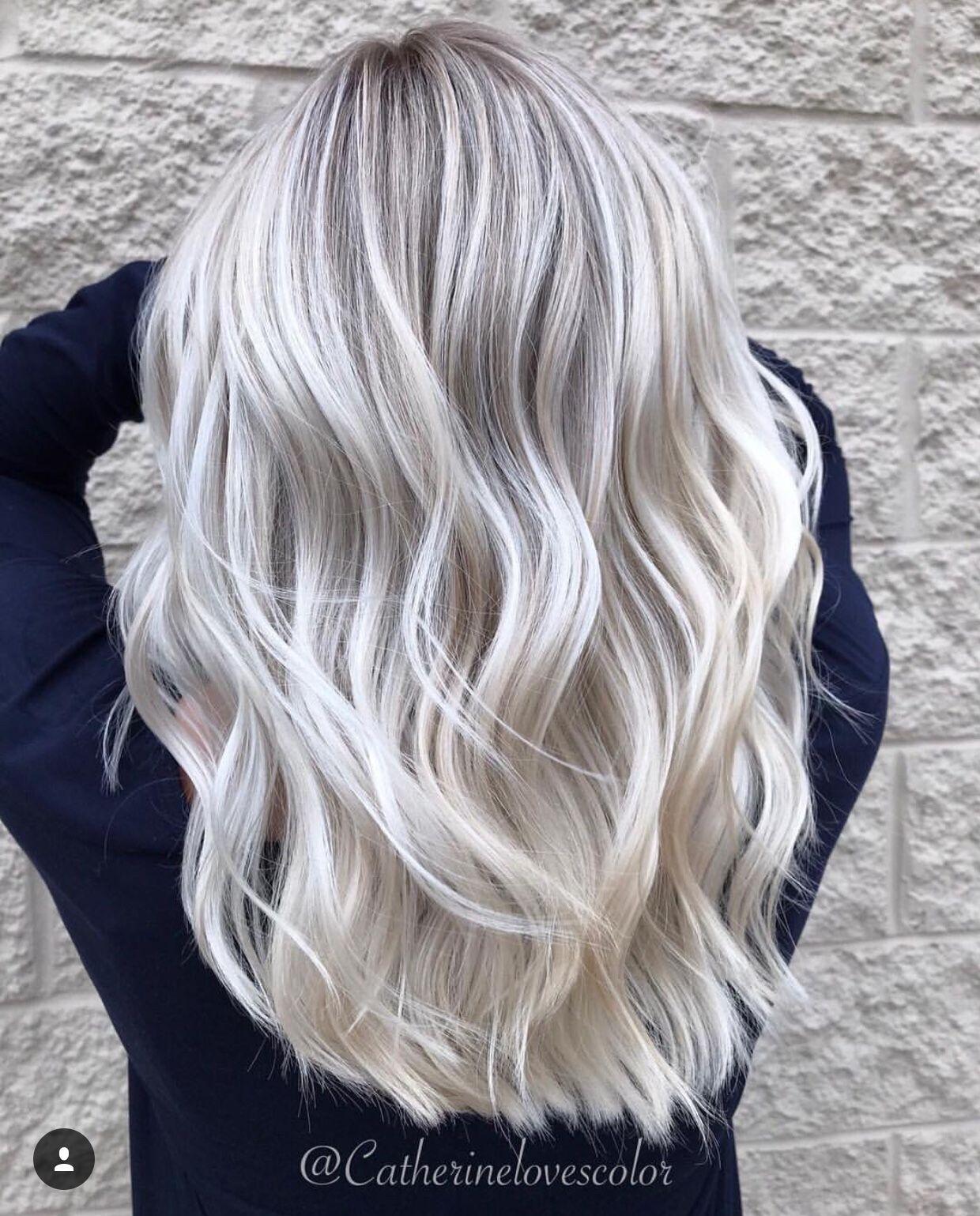 Hair Color Silver Grey Hair Colour Pinterest Orange Nail