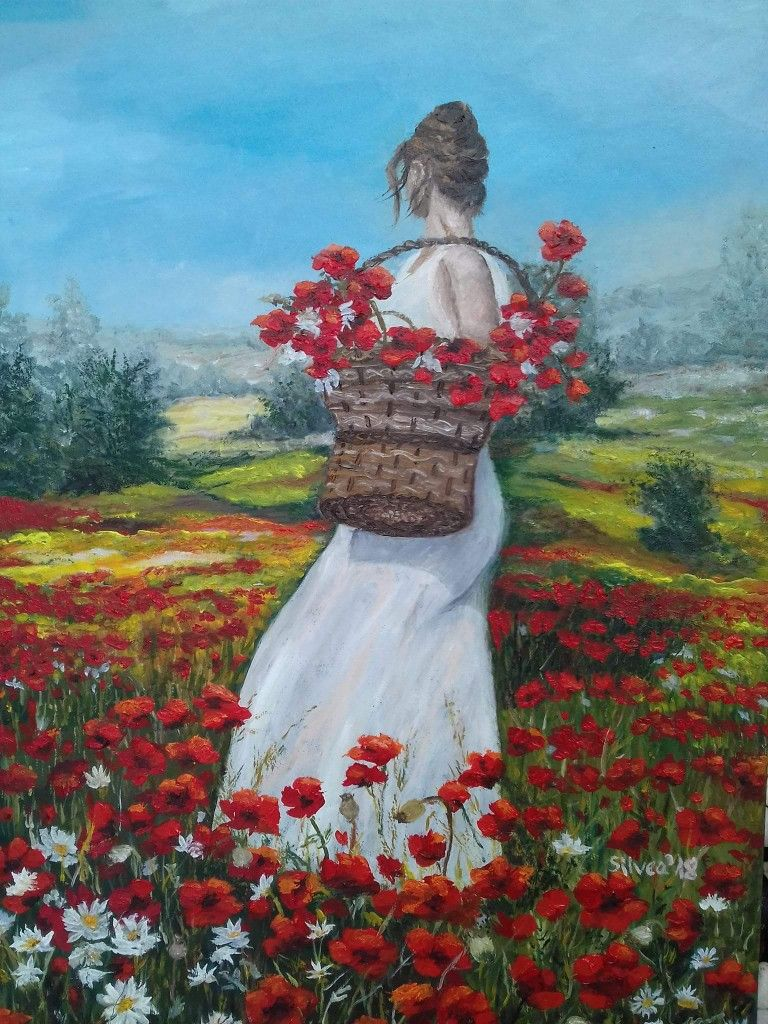 Pin by Gülser Baydar on maci Figurative artwork, Flower