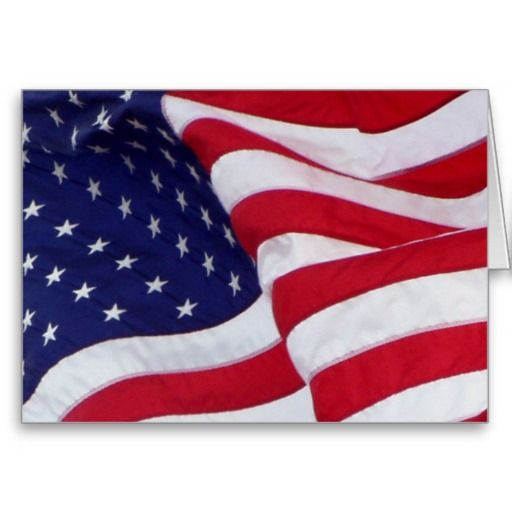 american flag card special promotion