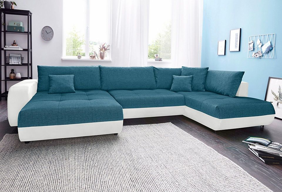 Wohnlandschaft, wahlweise mit Bettfunktion Jetzt bestellen unter - wohnzimmer sofa braun