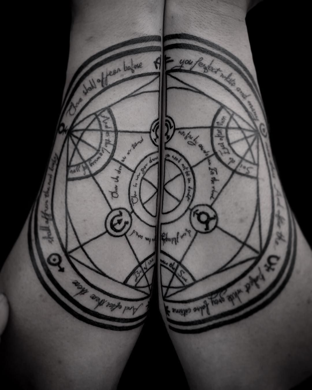 Fun Doing This Alchemy Spell Witchcraft Wicca Tattoo Done With Circuitry By Brujo On Deviantart Bigdave409 Alphasuperfluid Blackwork Ink At Onemoretattoolu In Luxembourg