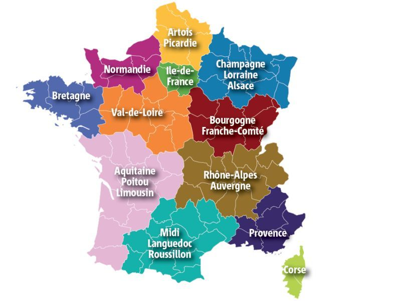 Réforme territoriale de France, découvrez les nouvelles régions et ...