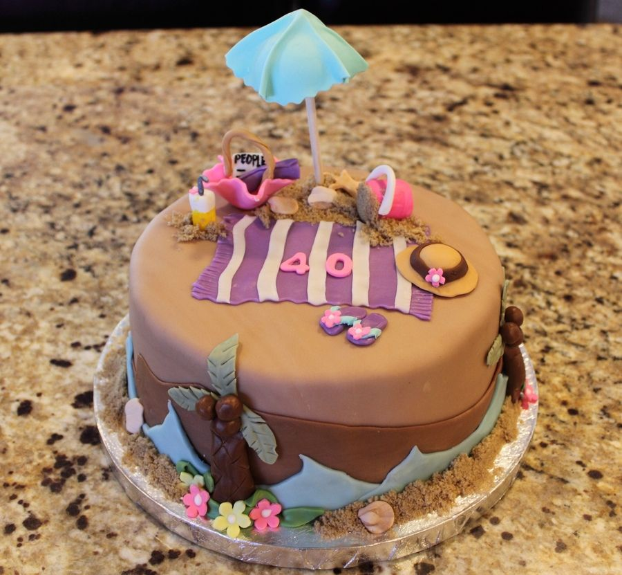 A 40th Birthday Cake For My Friend That Was Celebrating At
