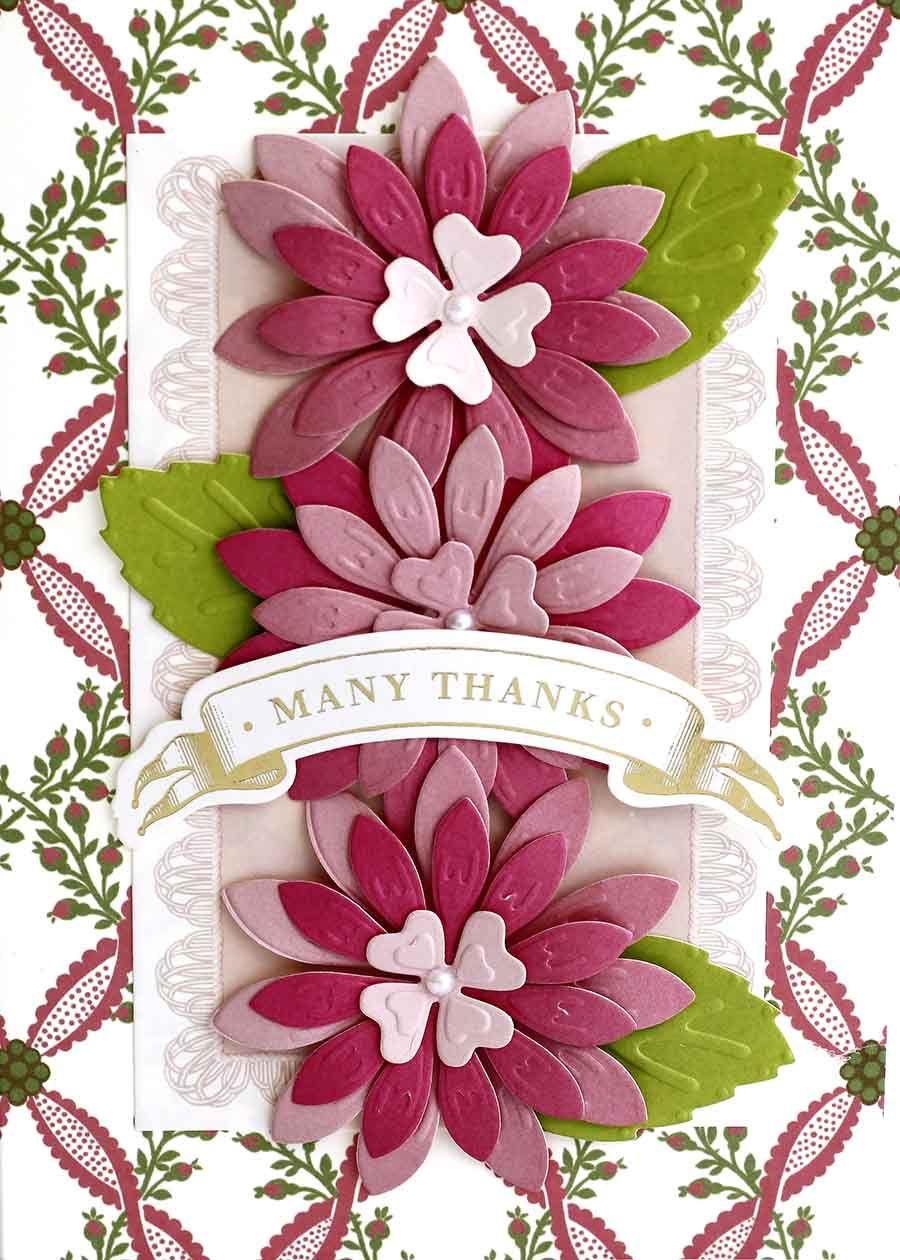 July 11th 2017 3d Flower Dies Anna Griffin Card Ideas