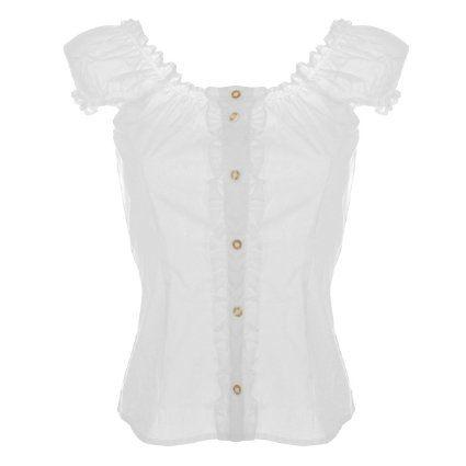 starke verpackung frische Stile verschiedene Stile Trachtenbluse Carmen in weiß von Almsach, Größe:32;Farbe ...