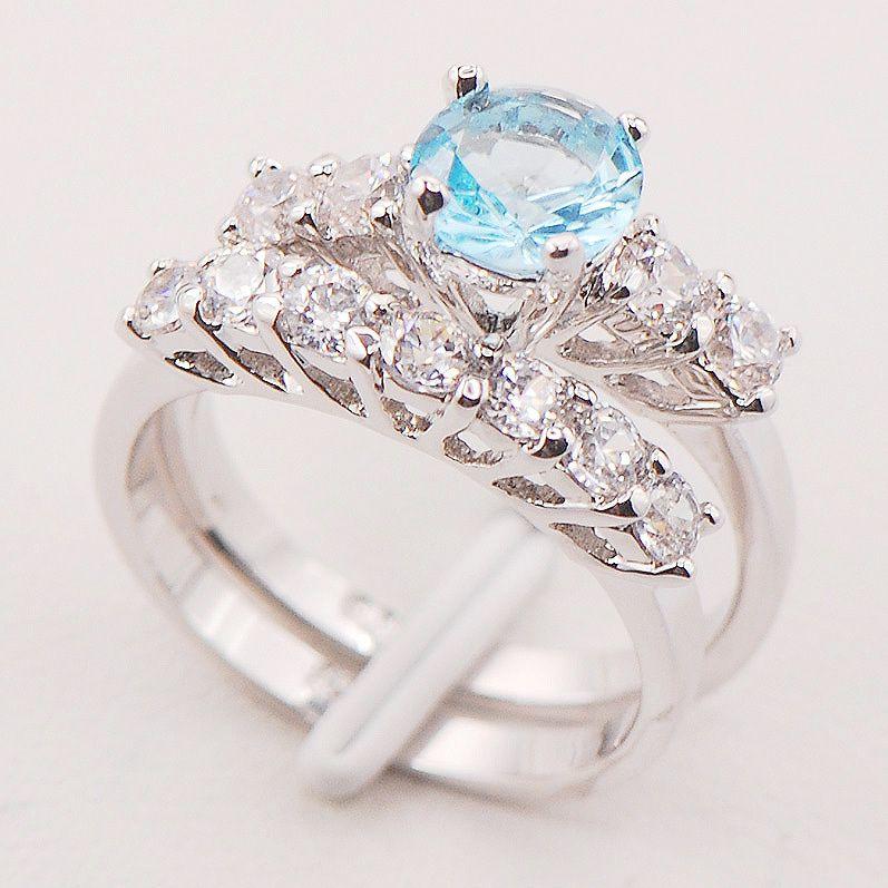 Crystal Zircon  Fashion Women 925 Sterling Silver Ring F704 Size 6 7 8 9 10 11