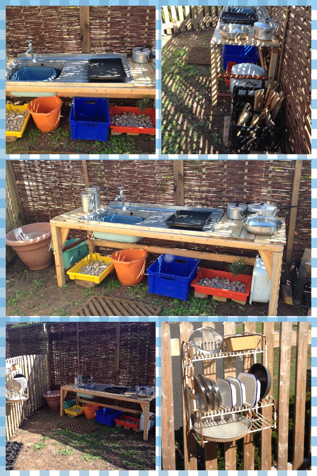 Our New Outdoor Kitchen Built Using Completely Recycled Materials By My Amazing Dad Outdoor Learning Spaces Outdoor Classroom Outdoor Play Spaces