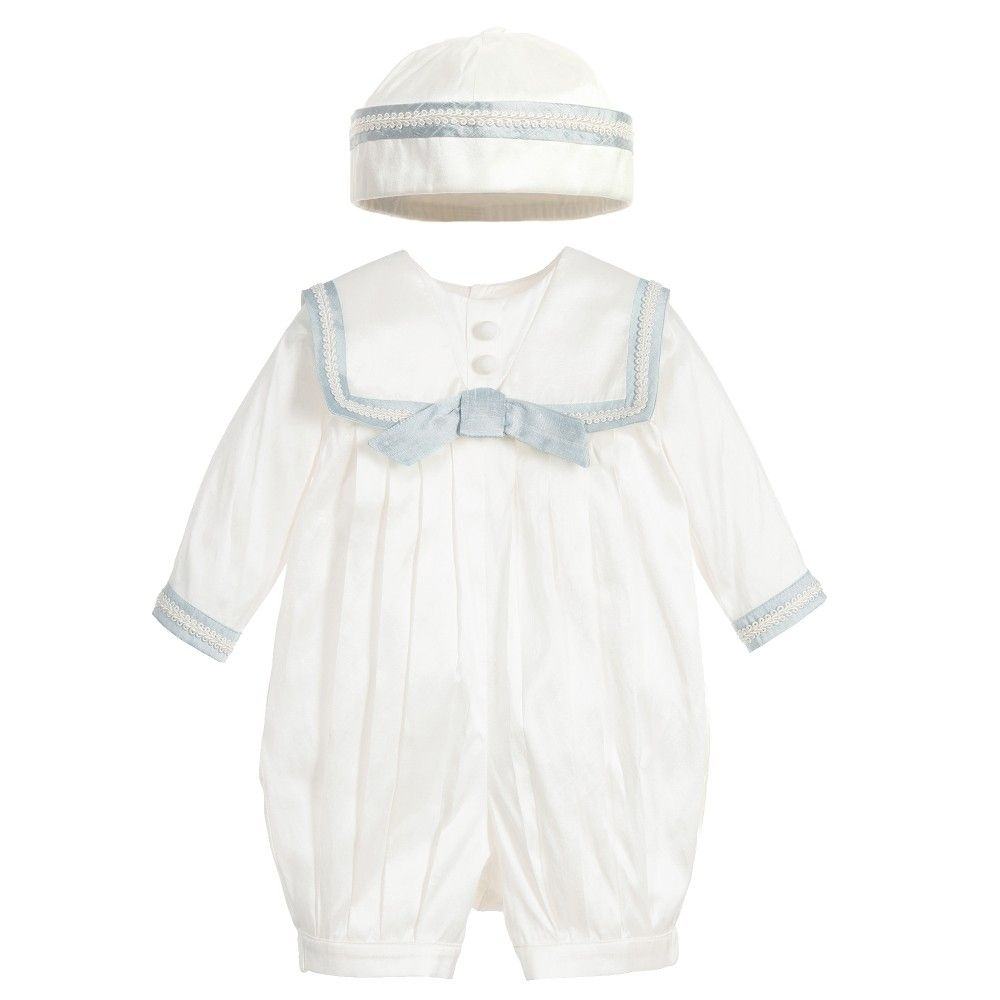 24616c708 Baby Boys Silk Sailor Suit & Hat | Children | Baby christening ...