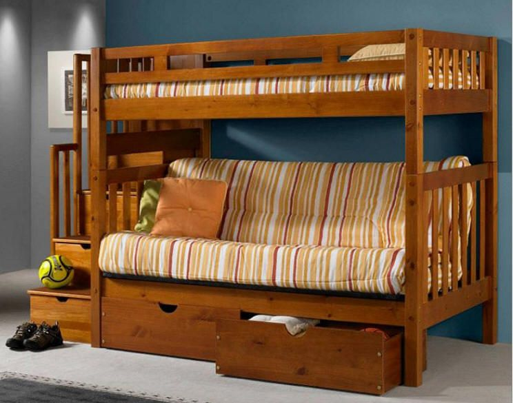 Barker Island Futon Stairway Bunk Beds I Wonder If This Would Work In Our Yurt