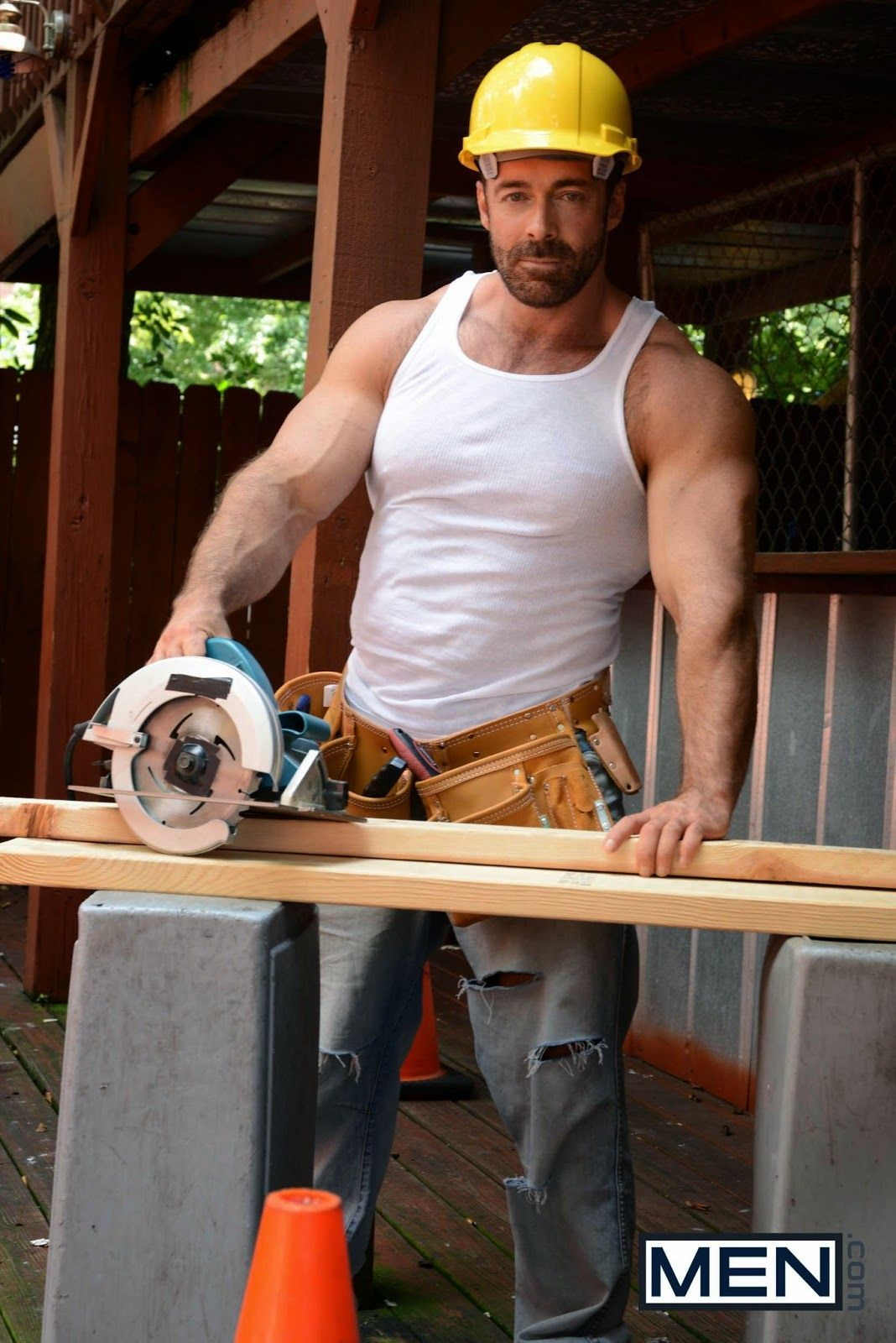 Sexy male construction worker