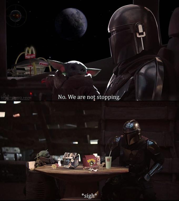Baby Yoda At Mcdonald S Yoda Meme Star Wars Humor Star Wars Memes